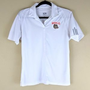 Adidas Waterloo Bulldogs Climalite Polo Shirt M